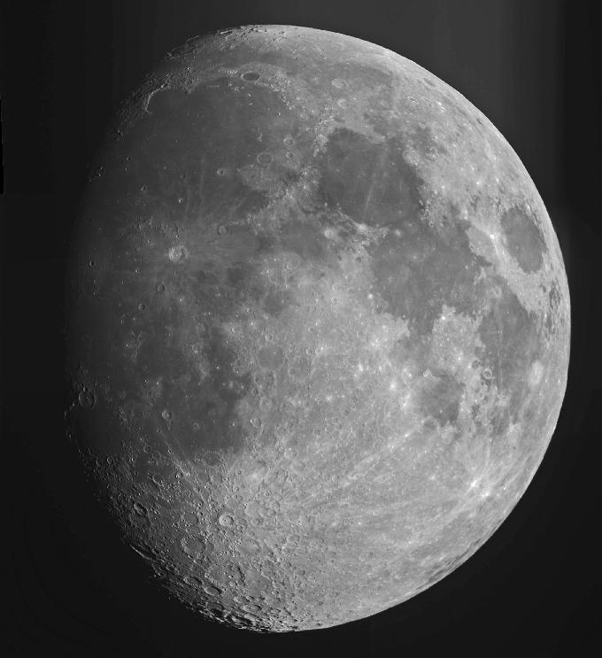Mosaic of Moon images from 10-inch reflector